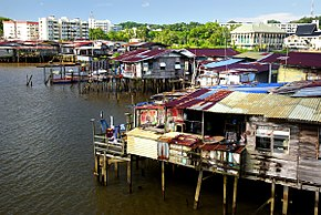 Village on the water Brunei. (15383937049).jpg