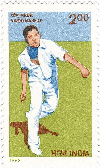 Vinoo Mankad - Mankad on a 1996 stamp of India