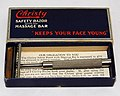 Vintage Christy Double Action SE Safety Razor With Massage Bar, Made In The USA By The Christy Company, Fremont, Ohio, Slogan - Keeps Your Face Young, Circa 1920s (27601230938).jpg
