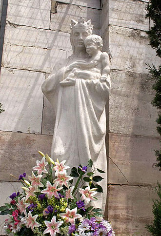 Virgin of Almudena - Virgin of Almudena at Almudena Cathedral  in Madrid