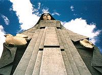 Monumento a la Virgen de la Paz Trujillo.