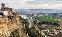 Vista de Arcos de la Frontera desde el Balcón de la Peña Nueva, Cádiz, España, 2015-12-08, DD 02.jpg