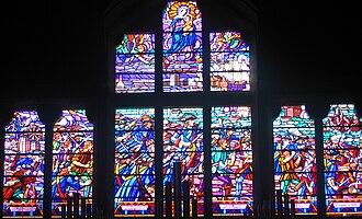 Battle of Camaret - Stained glass window in the église Saint-Rémi