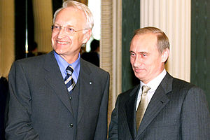 Edmund Stoiber - Stoiber and Vladimir Putin