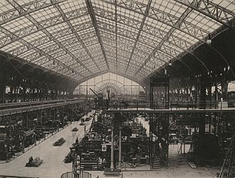 Victor Contamin - 1889 view of the interior of the Galerie des machines