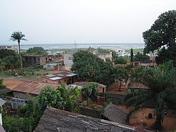 View on the lagoon of Porto-Novo