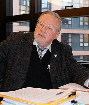 Prague Declaration on European Conscience and Communism - Founding signatory Vytautas Landsbergis, the first head of state of Lithuania after the liberation from Soviet communist occupation