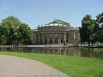Teatro Estatal de Stuttgart, sede de la Ópera Estatal de Stuttgart.