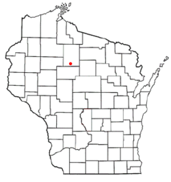 Location of Ogema, Wisconsin