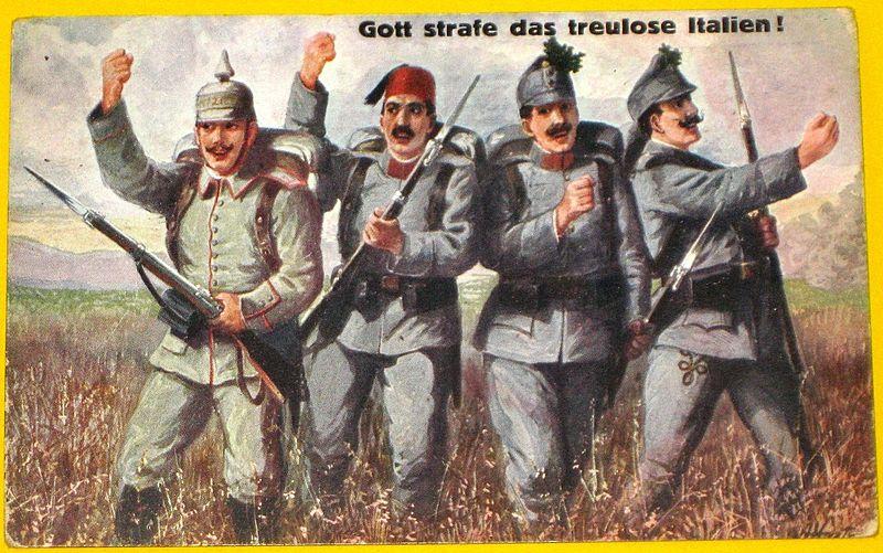 File:WWI postcard an die front.jpg