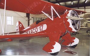 Waco F series - Waco UBF of 1932 flown by Texaco preserved at the Historic Aircraft Restoration Museum, Missouri, 2006