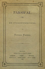 Wagner, Richard: Parsifal.  A stage consecration festival, title page of the first print