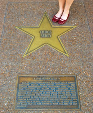 St. Louis Walk of Fame - Chuck Berry's star in the St. Louis Walk of Fame