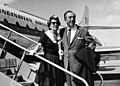 Walt Disney and his wife departing from Kastrup Airport CPH, Copenhagen by SAS to Vienna.jpg