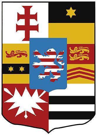 Grand Duchy of Hesse - Image: Wappen Hessen Darmstadt 1736