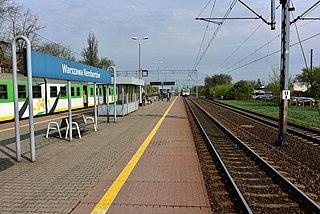 railway station in Warsaw, Poland