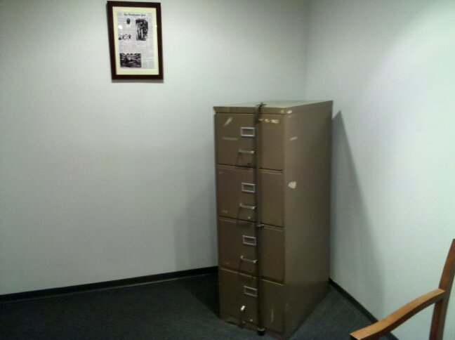 Watergate filing cabinets at DNC HQ