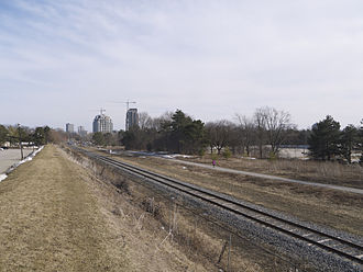 Ion rapid transit - Waterloo Spur just south of University Avenue in April 2014, before construction started