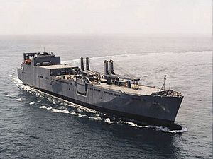 Large, Medium-Speed Roll-on/Roll-off - USNS Watson at sea