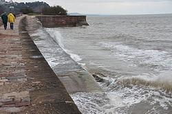 Waves breaking on the sea wall at Teignmouth (0144).jpg