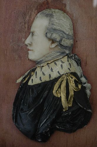 Wills Hill, 1st Marquess of Downshire - Wax profile portrait of Lord Hillsborough by 'Lewis'.