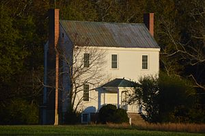 National Register of Historic Places listings in Greensville County, Virginia - Image: Weaver House, north of Emporia