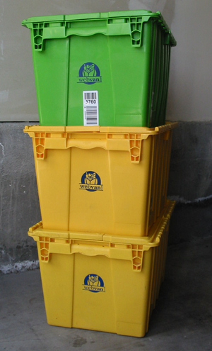 Webvan - Thousands of webvan tubs survive as household storage bins