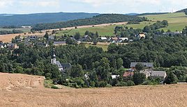 View on the Weißbach part of the town