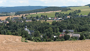 Langenweißbach - View on the Weißbach part of the town