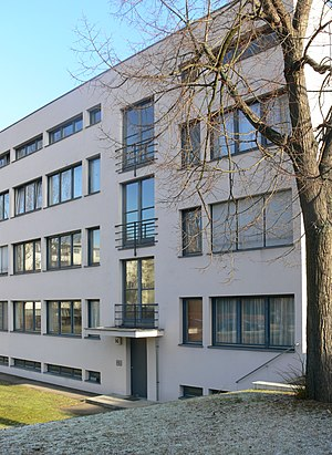 Deutscher Werkbund - Building by Mies van der Rohe in the Weißenhof Werkbund settlement (1927)