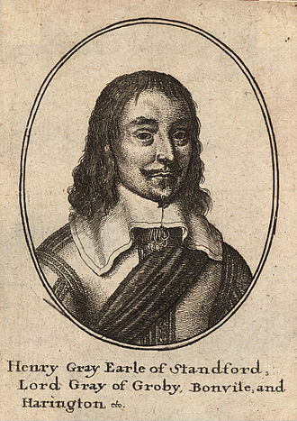 Henry Grey, 1st Earl of Stamford - Contemporary engraving of Henry Gray by Wenceslas Hollar