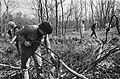 Werklozen vrijwillig (met behoud van uitkering) aan het werk in bossen bij Nunsp, Bestanddeelnr 932-1118.jpg