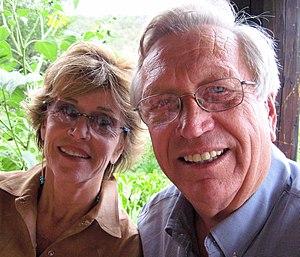 Wes Jackson and Jane Fonda (Photo by Joan Halifax)