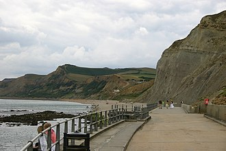Bridport - The Jurassic cliffs, West Bay