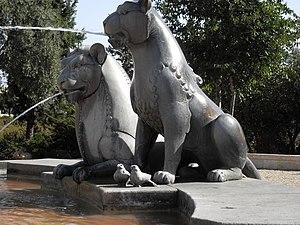 Yemin Moshe - Gardens of Yemin Moshe - Lions Fountain, Jerusalem
