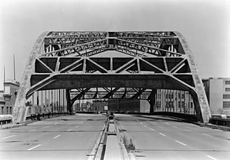 West Side Elevated Highway - Looking north at Canal Street