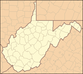 Neibert, West Virginia на мапи West Virginia