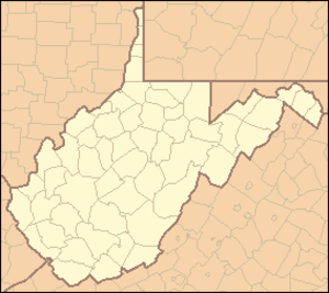 Roaring Plains West Wilderness - Image: West Virginia Locator Map