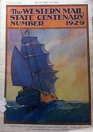 Western Mail (Western Australia) - 1929 WA Centenary cover