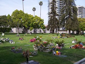Westwood Village Memorial Park Cemetery - Image: Westwood Village Memorial Park Cemetery view to northeast