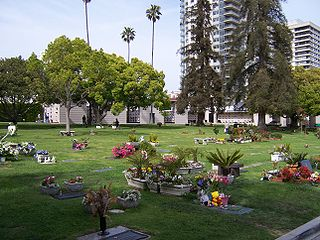 Pierce Brothers Westwood Village Memorial Park and Mortuary Cemetery in Los Angeles, California, US