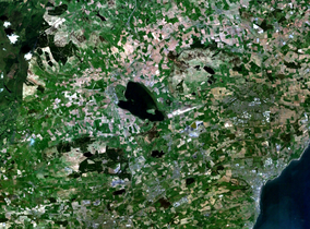 Satellite photograph of Loch Leven and the surrounding area