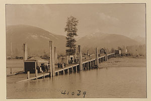 Burton, British Columbia - Wharf at Burton, 1923