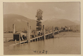 Burton, British Columbia - Wharf at Burton, 1923