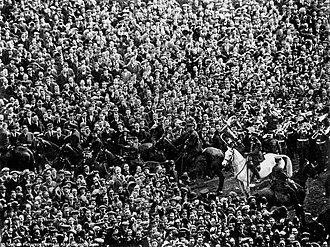 Wembley Stadium (1923) - Billy the White Horse, saviour of the 1923 FA Cup Final