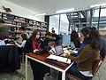 Wikipedistas trabajando en el Editatón 'Wikipedia ama el cine' 03.JPG