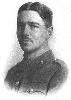 A plate from his 1920 Poems by Wilfred Owen, depicting him.
