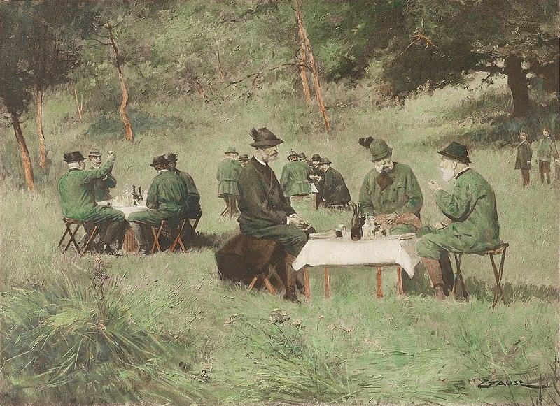 File:Wilhelm Gause Kaiser Franz Joseph beim Jagd-Picknick.jpg