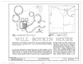 Will Boykin House, State Route 32 and County Route 1 vicinity, Memphis, Pickens County, AL HABS ALA,54-MEM,1- (sheet 1 of 4).png