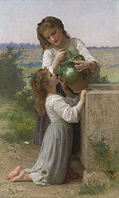 William-Adolphe Bouguereau (1825-1905) - At The Fountain (1897).jpg